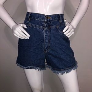 d583829097 Vintage Route 66 High Waisted Jean shorts 11/12